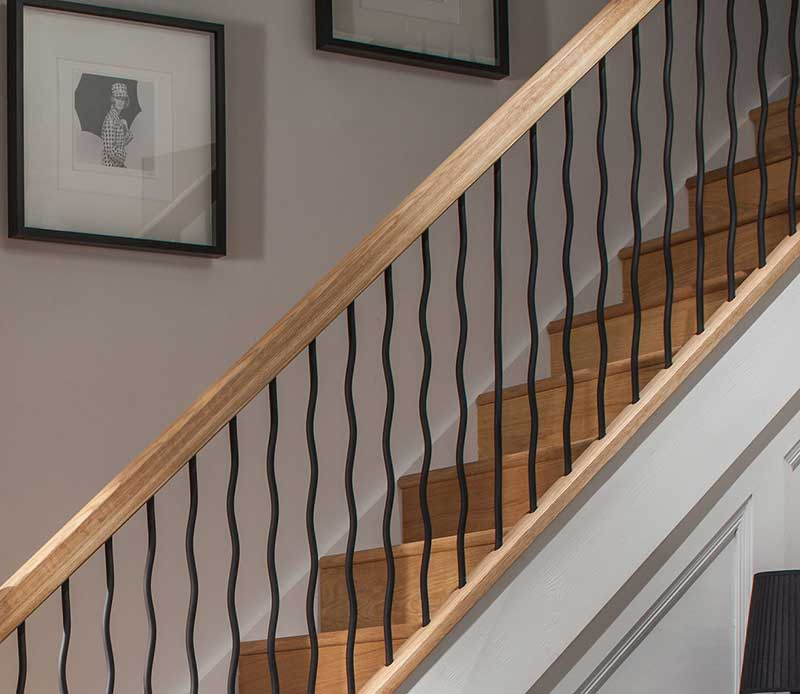 Wavy Iron Stair Parts Cheshire Mouldings