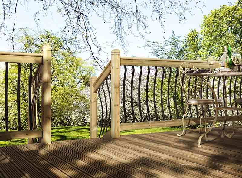 Bow metal dek decking cheshire mouldings for Decking special offers
