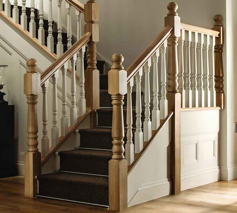 Warwick Turned Handrails For Stairs