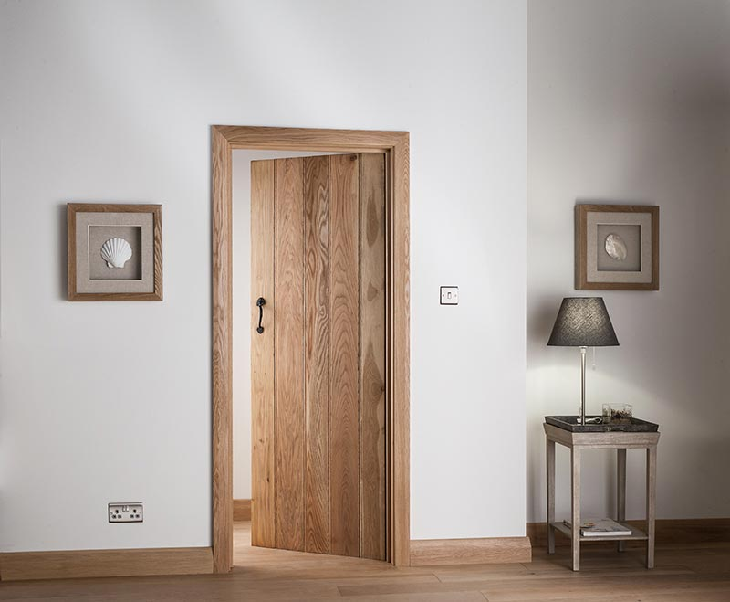 Double click to zoom & Ledged u0026 Braced Solid Oak Interior Doors | Cheshire Mouldings