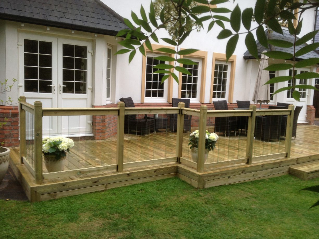 Contemporary glass decking renovations in Cheshire
