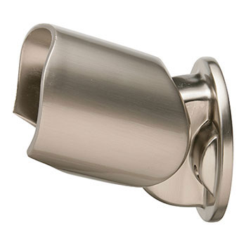 Axxys Round Handrail Connector in Brushed Nickel