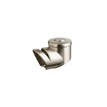 Axxys Landing Handrail Connector in Brushed Nickel