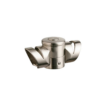 Axxys Multi Angle Landing Connector in Brushed Nickel