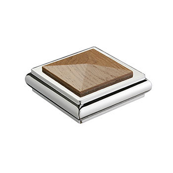 Benchmark Solo Square Cap - Oak/Chrome 100469323