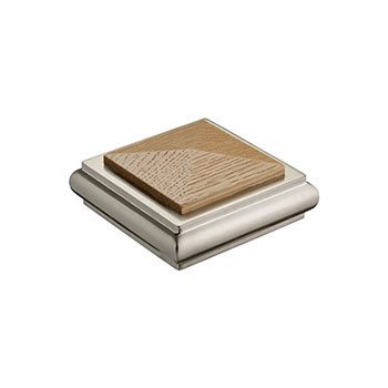 Benchmark Solo Square Cap - Oak/Nickel
