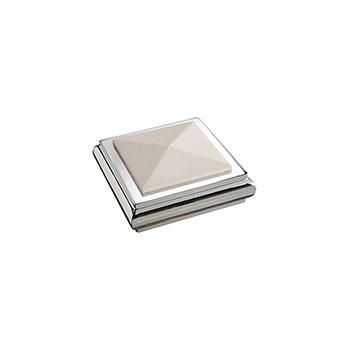 Benchmark Solo Square Cap - White/Chrome