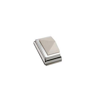 Half Benchmark Solo Square Cap - White/Chrome