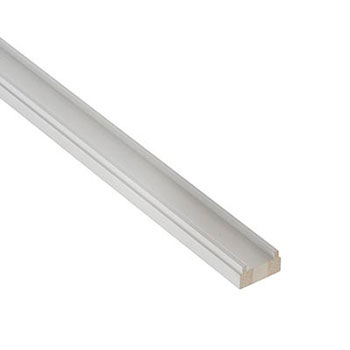 White Primed Benchmark 2400mm Length 41mm Groove Baserail