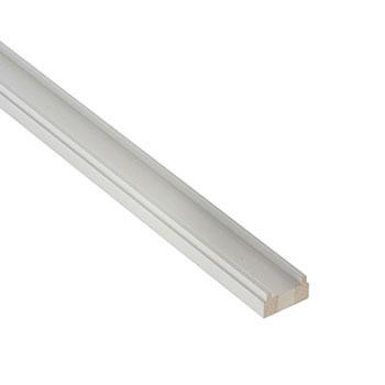 White Primed Benchmark 4200mm Length 41mm Groove Baserail