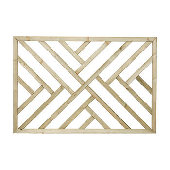 Pine Cross Hatch Decking Panel 1135x760x38