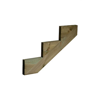 Pine 3 Tread Deck String 245 X 868