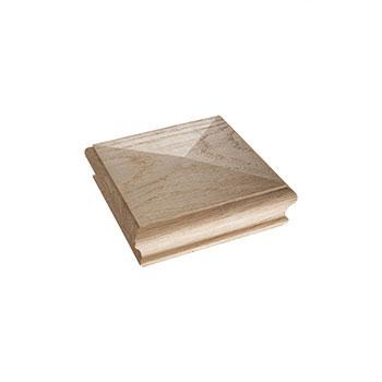 Oak Pyramid Newel Cap 125 x 125 x 47