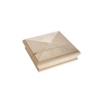 Pine Pyramid Newel Cap 125 x 125 x 47