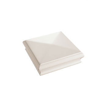 White Primed Pyramid Newel Cap 125 x 125 x 47