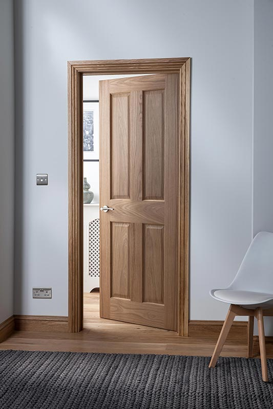 Cheshire 4 Panel Oak Door Portrait
