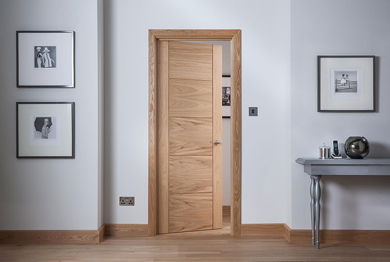 Beau Modernus 5 Panel Oak Door Landscape