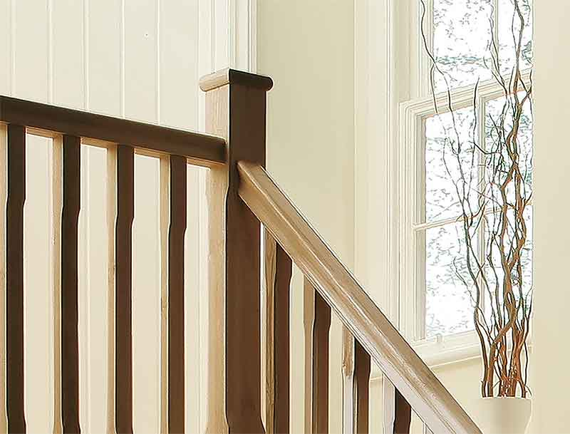 Supportive image to help with the Oak Benchmark 2400mm Length 32mm Groove Handrail