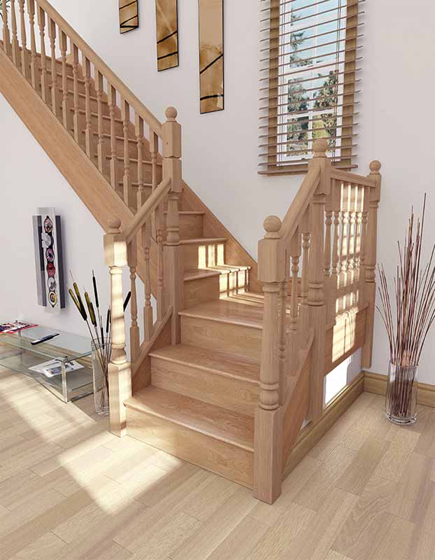 Supportive image to help with the Oak 615mm Half Newel Base