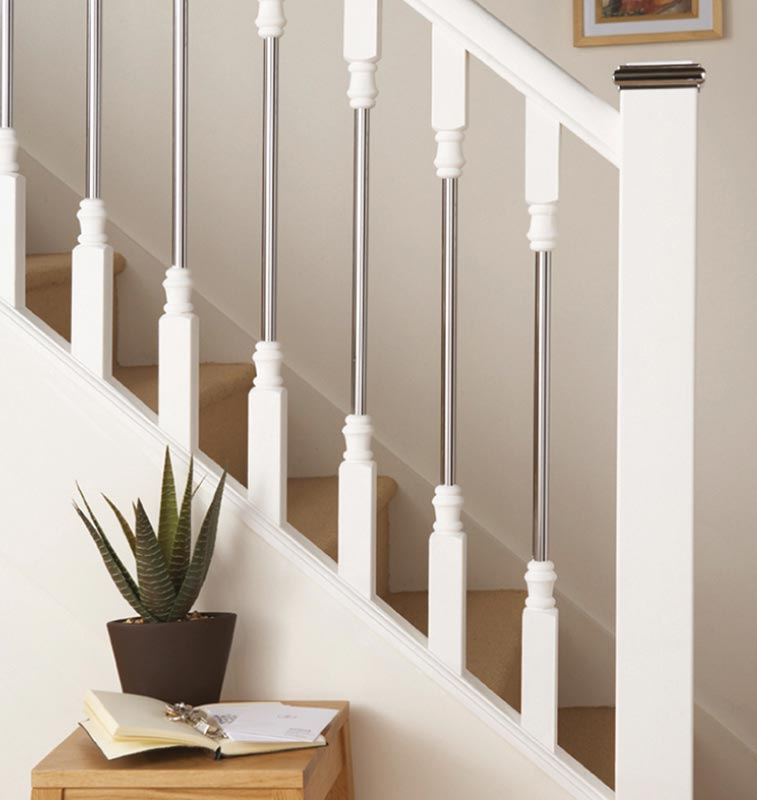 Supportive image to help with the White Primed Square Newel 91 x 91 x 1500