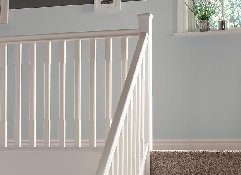 Supportive image to help with the White Primed Stop Chamfered Newel 91 x 91 x 1500