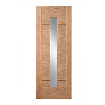 Oak Glazed 762mm wide Internal Door from the Modernus range