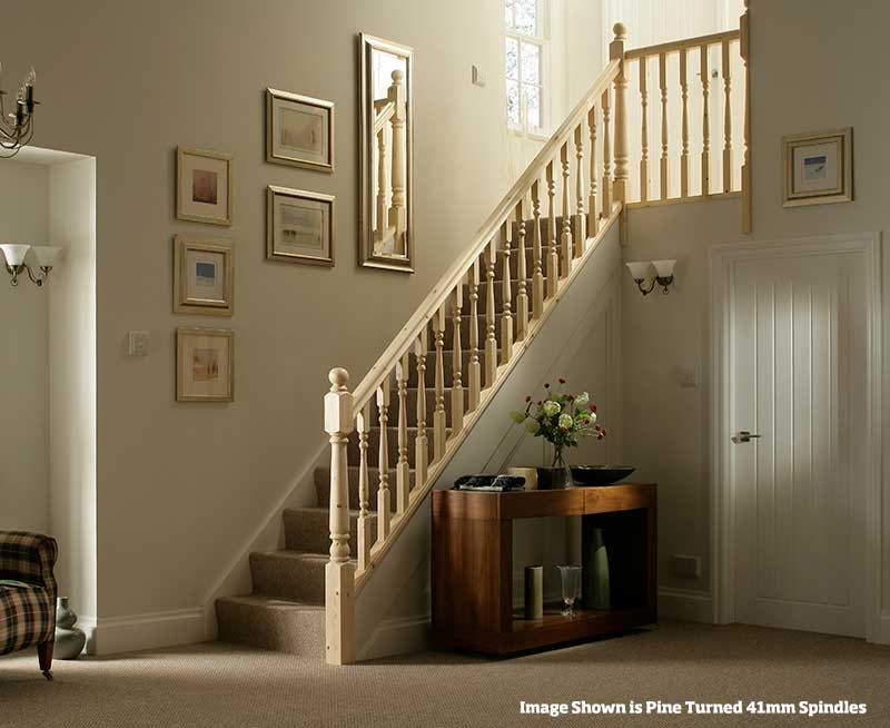 32mm Groove Colonial Banister Stairkit in Pine