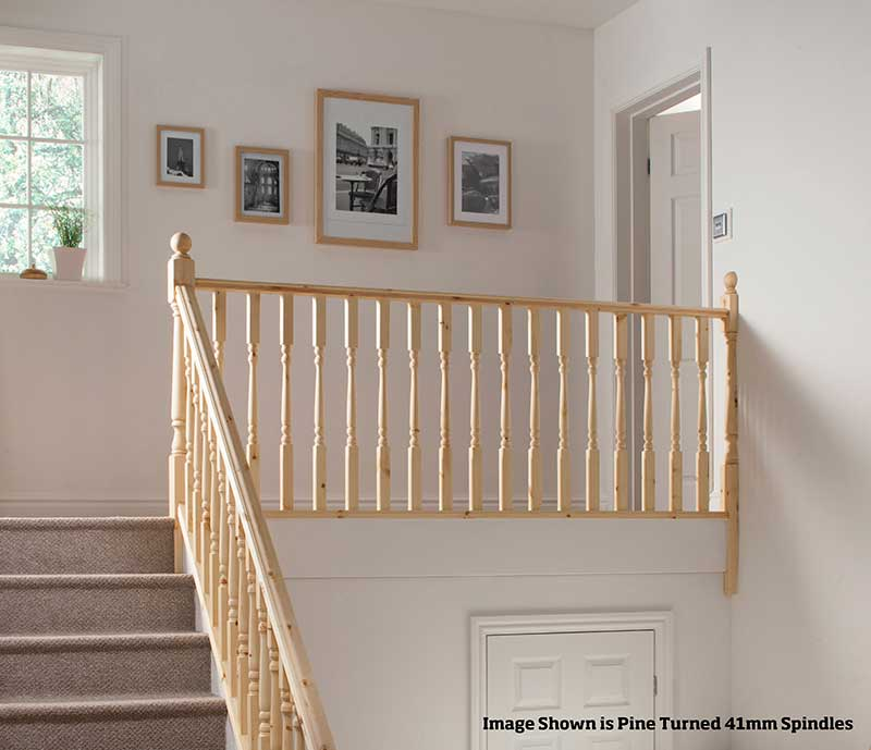 32mm Groove Colonial Landing Stairkit in Pine