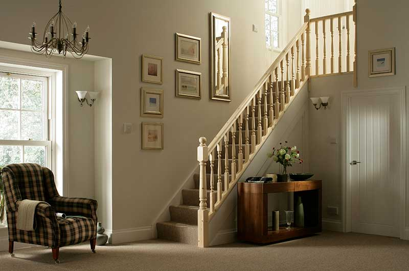41mm Groove Colonial Banister Stairkit in Pine