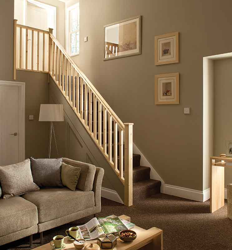 41mm Groove Square Banister Stairkit in Pine