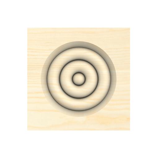 Pine 21x85x85 Bulls Eye