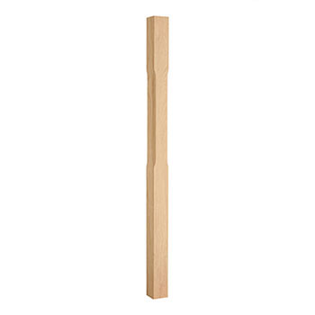 Oak Stop Chamfered Newel 91mm x 1500mm  FSC