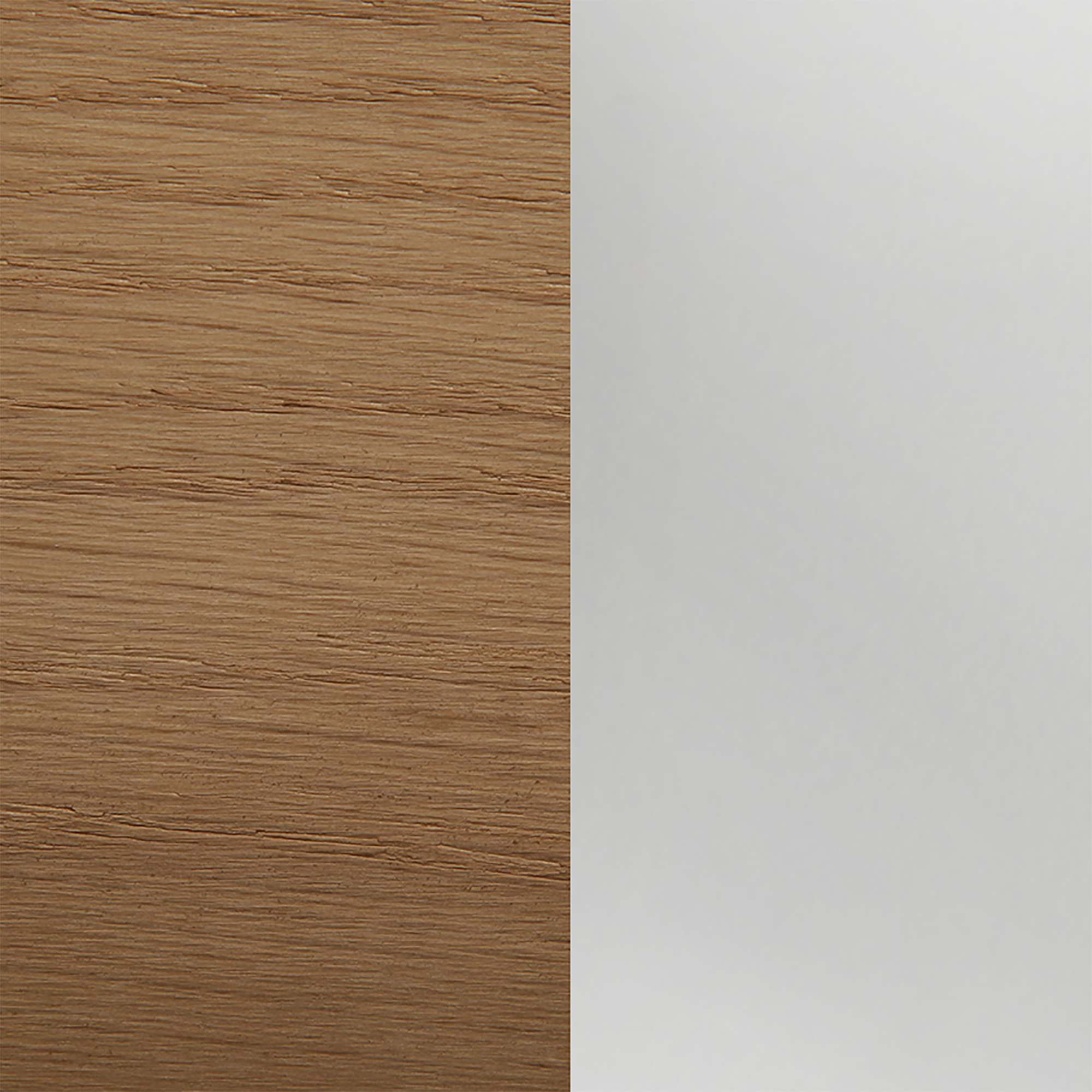 Oak/frosted Glass