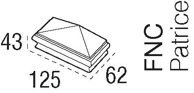 Hemlock Pyramid Newel Cap